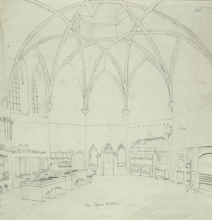 Durham Cathedral, Deanery Kitchen f.166